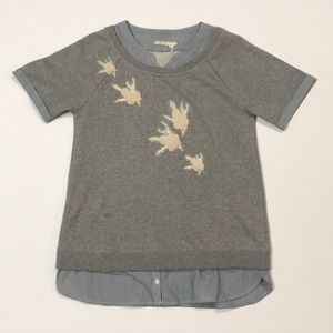 Anthropologie Floreat sparrow sweatshirt small